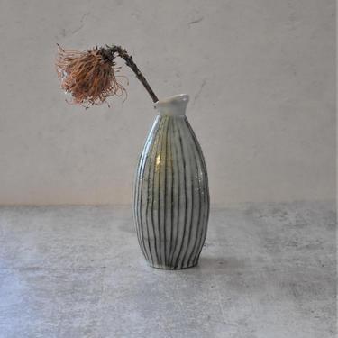 Flower stem vase,  ceramic bottle, housewarming gift by claylicious