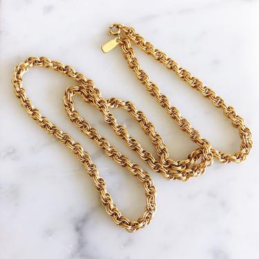 Vintage Monet Gold Plated Chain Necklace by TheDistilleryVintage