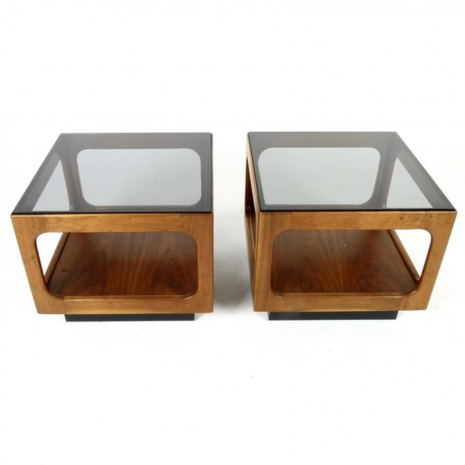 Pair of John Keal End Tables / Two Piece Coffee Table