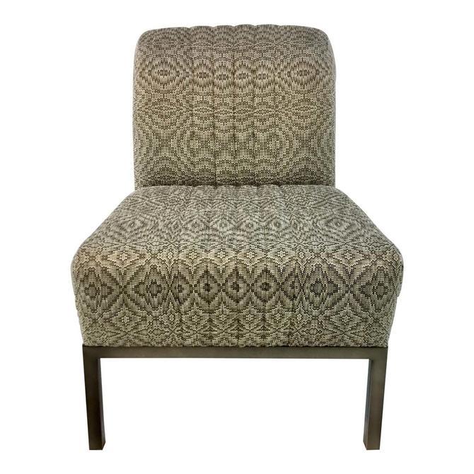 Thomasville Gray Mercedes Slipper Chair