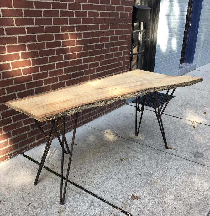 Nakashima Style Free Edge Slab Table by bcdrygoods