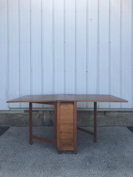 Danish Modern Drop Leaf Table & Chair Set