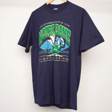 vintage DEADSTOCK 1980s 90s NOTRE DAME Fighting Irish college football short sleeve vintage still tagged t-shirt -- size large by CairoVintage