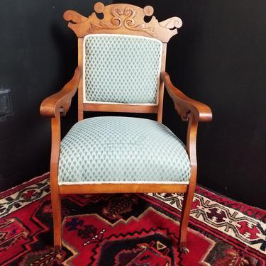 Eastlake Upholstered Parlor Chair.