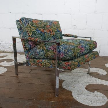 Milo Baughman chrome armchair