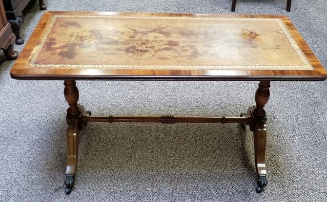 Item #S34 Regency Style Coffee Table c.1950s