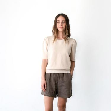 Puff Sleeve Short Sleeve Sweatshirt (multiple colors)