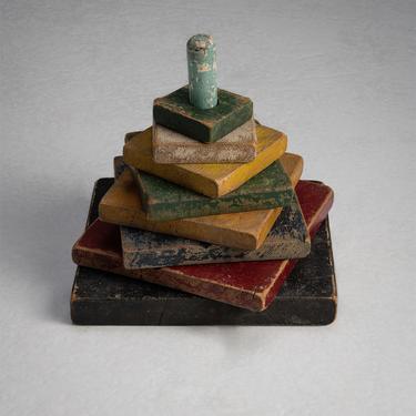 Polychromed Children's Wooden Stacking Blocks