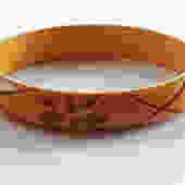 Vintage Carved Butterscotch Bakelite Bangle by LegendaryBeast
