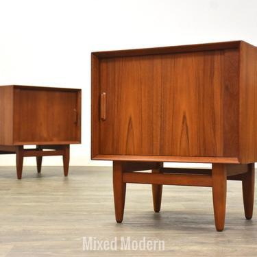 Danish Modern Teak Nightstands by Falster - A Pair by mixedmodern1