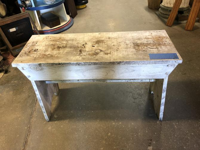 Shabby White Bench or Small Table