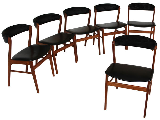 Set Of 6 Danish Modern Chairs By Sax Mobler by RetroPassion21