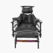 brazilian modern lounge chair and ottoman by Jean Gillon
