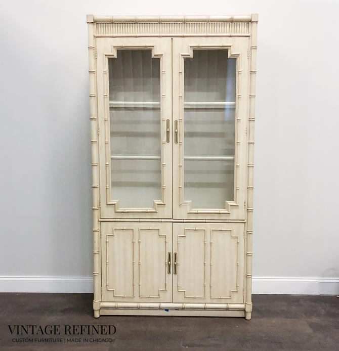 CUSTOMIZABLE: Bamboo Cabinet / Hutch by VintageRefinedDecor