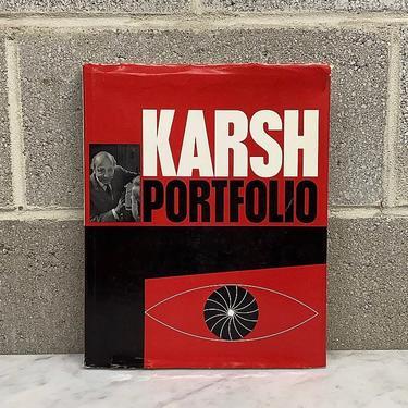 Vintage Karsh Portfolio Book Retro 1960s Mid Century Modern + Photography + Portraits of Famous People + Hardback + Coffee Table Book by RetrospectVintage215