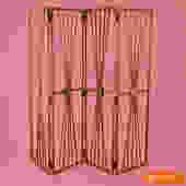 4 Panel Rattan and Pencil Reed Bullseye Screen