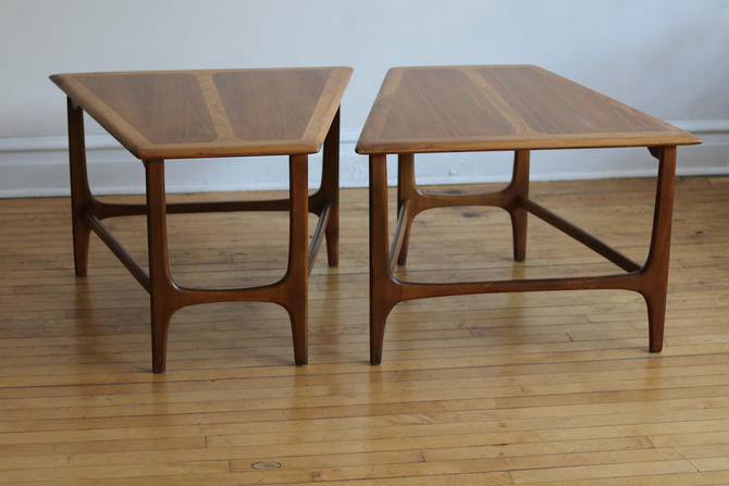 Pair of Mid Century Danish Modern End Tables by SharkGravy