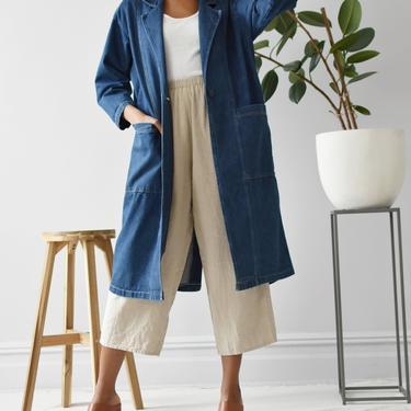 vintage denim duster coat, size M by ImprovGoods