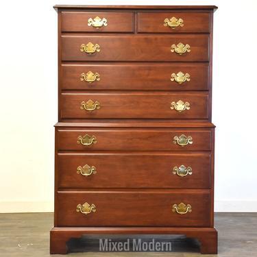 Tall Cherry Dresser by Henkel Harris by mixedmodern1