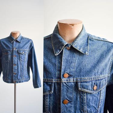Vintage Blue Denim Trucker Jacket by milkandice