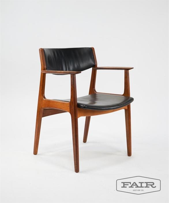 Wood and Vinyl Armchair