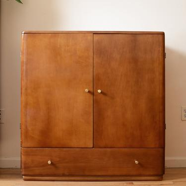 Mid Century Solid wood Armoire by fingerlickingvintage