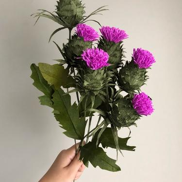 Crepe Paper Thistle -- Paper Flowers for Weddings - Home Decor - Floral Wholesale by ReveryPaperFlora