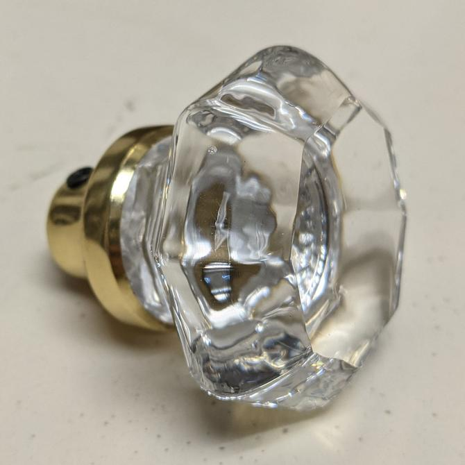 Octagon Crystal Doorknob