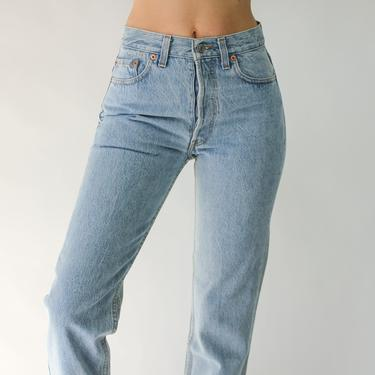 Vintage 80s LEVIS Womens Light Wash 501 High Waisted Jeans New w/ Instant Old Tags | Made in USA | Size 27/28 | 1980s LEVIS Boho Denim Pants by TheVault1969