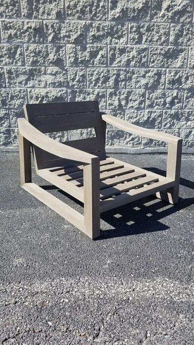 Restoration Hardware Sebastian Teak Lounge Chair