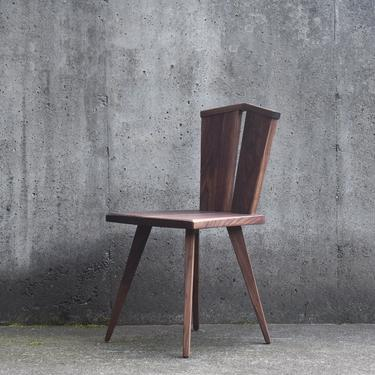 Sculptural Wood Slab Chair by MarcoBogazziStore