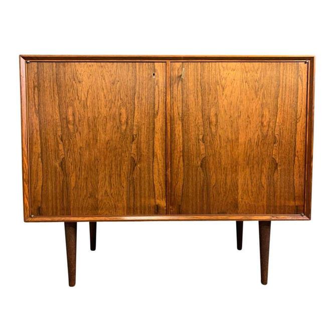Vintage Danish Mid Century Modern Rosewood Storage Cabinet by AymerickModern