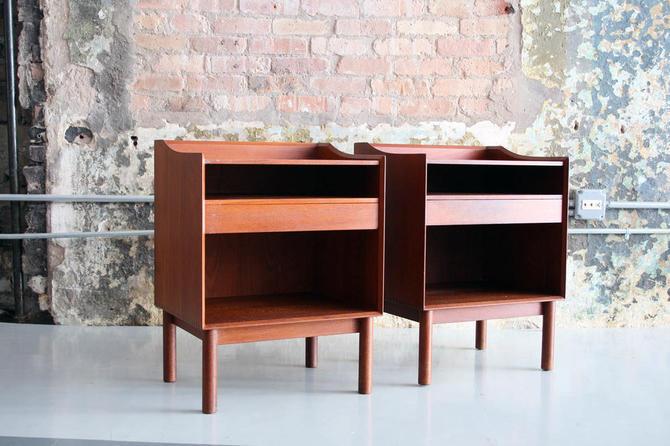 Pair of Teak bedside tables by Peter Hvidt and Orla Molgaard-Nielsen