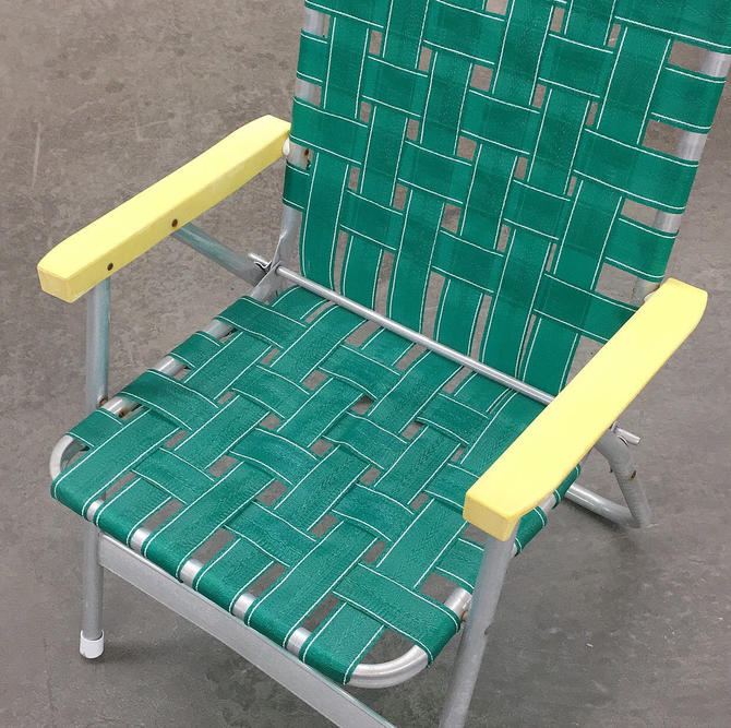 LOCAL PICKUP ONLY ————- Vintage Aluminum Folding Chair by RetrospectVintage215