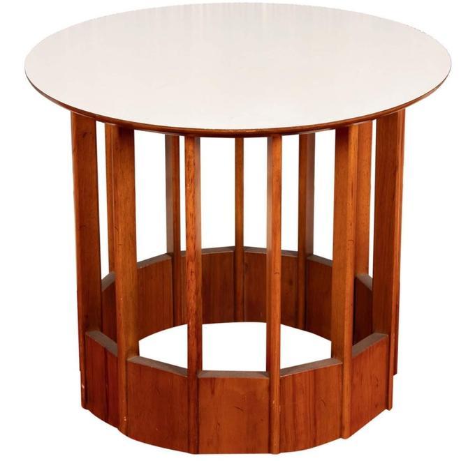Hickory Modern Mahogany and Micarta Side Table by UrbanInteriorsBalt