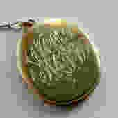 Large Vintage Vermeil Sterling Locket on Vermeil Sterling Chain by LegendaryBeast