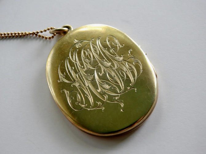 Large Vintage Vermeil Sterling Locket on Vermeil Sterling Chain by LegendaryBeast