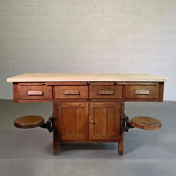 Early 20th Century Industrial Laboratory Workbench
