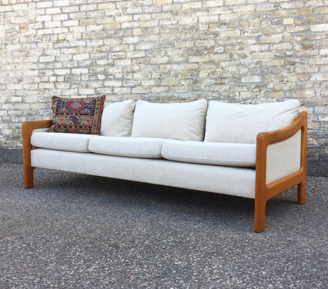 Teak-framed Danish Sofa