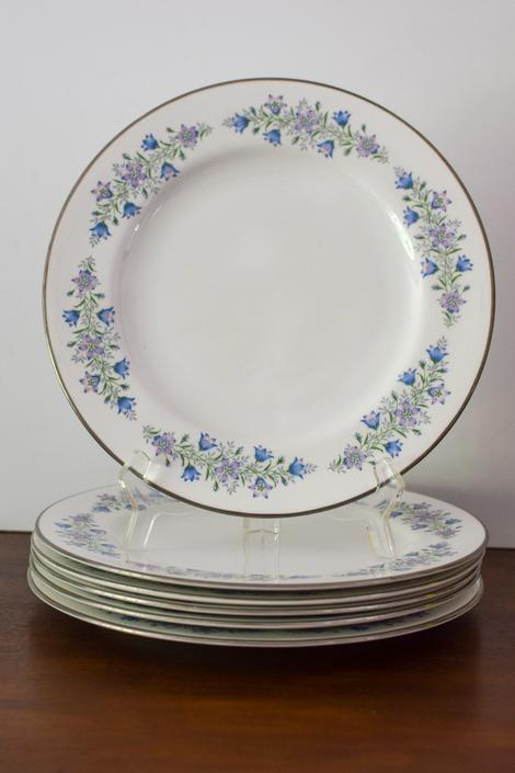 """Set of 6 Vintage Spode Dinner Plates in """"Maytime"""" Pattern by CapitolVintageCharm"""