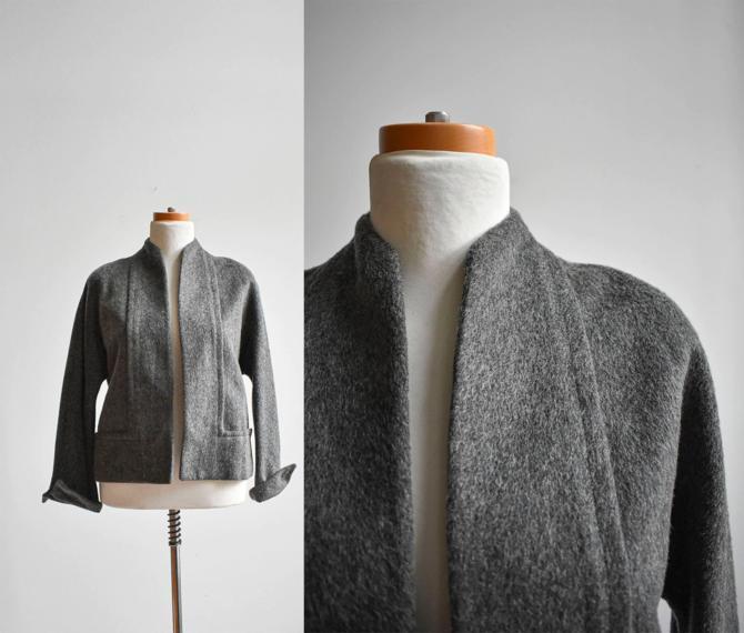 50s Gray Wool Swing Jacket by milkandice