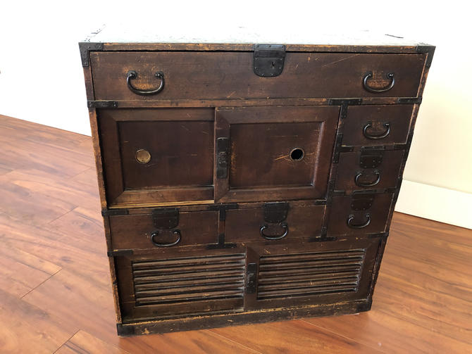 Edo Period Japanese Tansu Chest by Vintagefurnitureetc