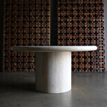 Travertine Centre Table, circa 1980