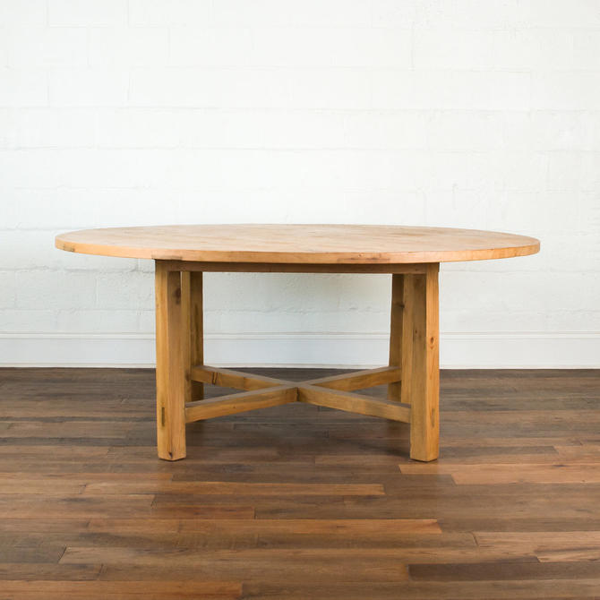 DIXON RYE ROUND TABLE MADE FROM SALVAGED ANTIQUE PINE