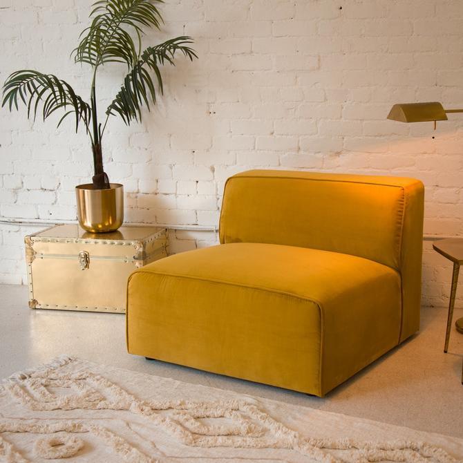 Citron Velvet Lounge Chair