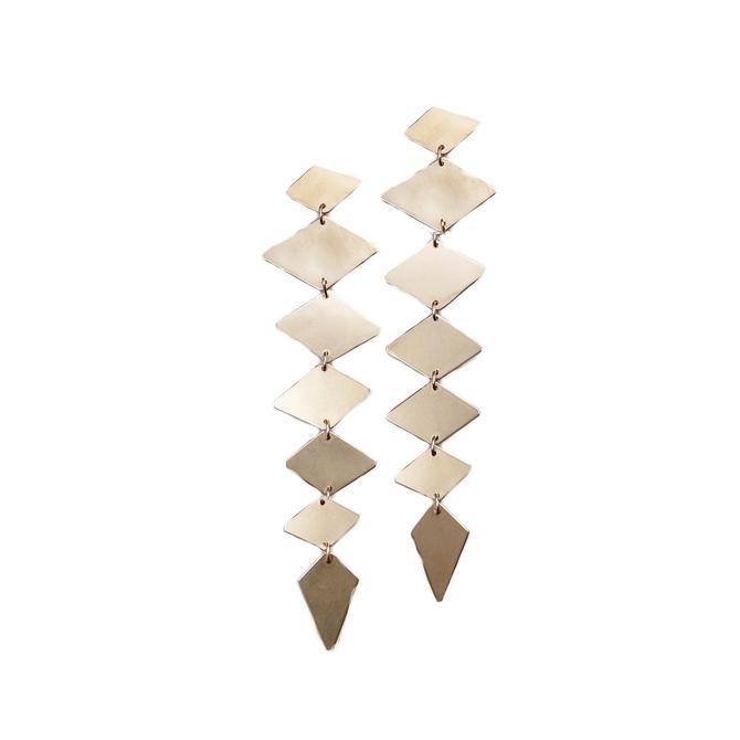 Diamond Lina Earrings - Brass