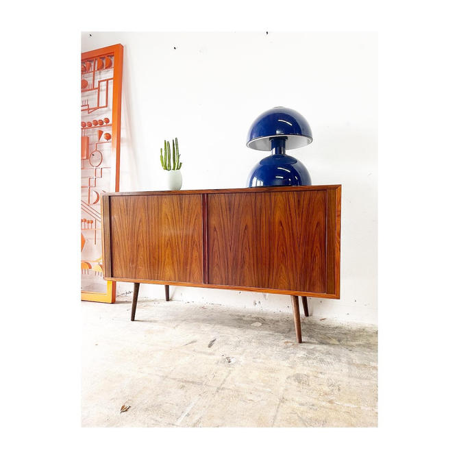 Danish Modern Rosewood Console or Credenza by Poul Hundevad by FlipAtik