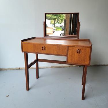Danish teak vanity small desk