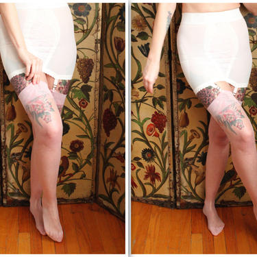 1970s Thigh Highs // Pink Sparkle Thigh Highs // vintage 70s nylons by dethrosevintage
