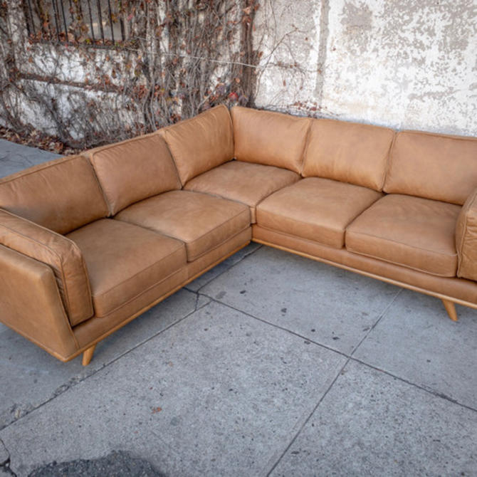 Butterscotch Leather Sectional